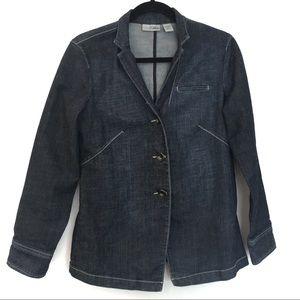 [CHICO'S] Platinum Denim Blue Jean Jacket Size 0